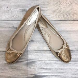 Zara Ballet Flat *Gold* NWOT Size 11